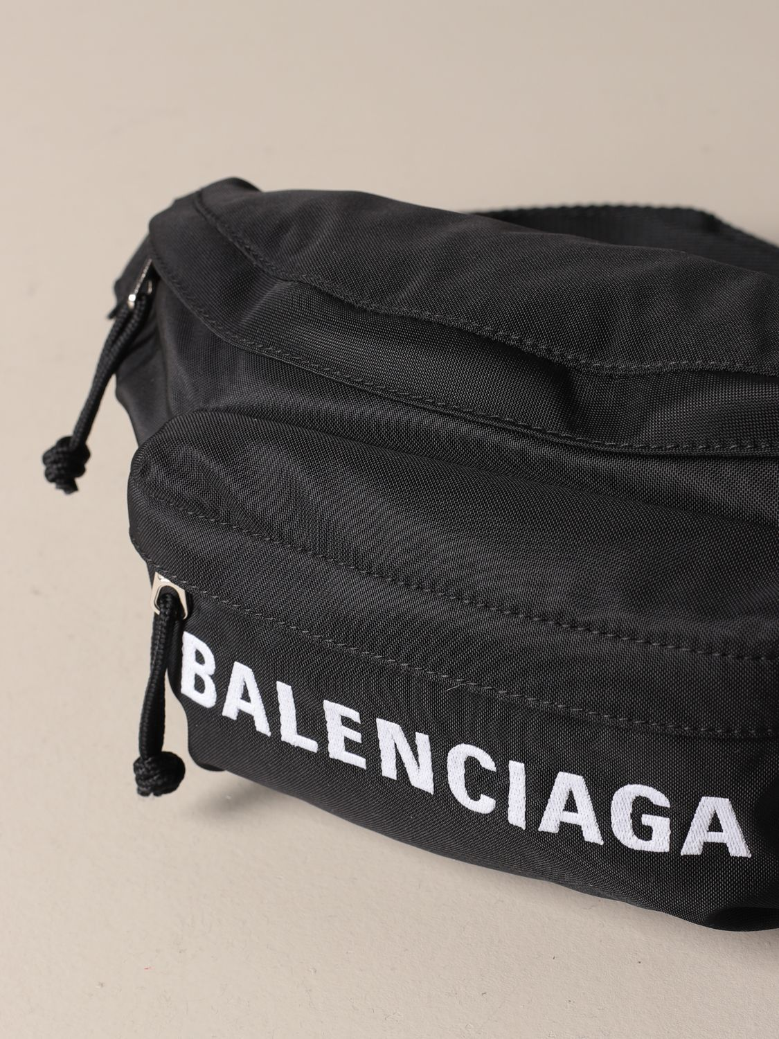 Belt bag Balenciaga: Balenciaga belt bag in recycled nylon with logo black 4