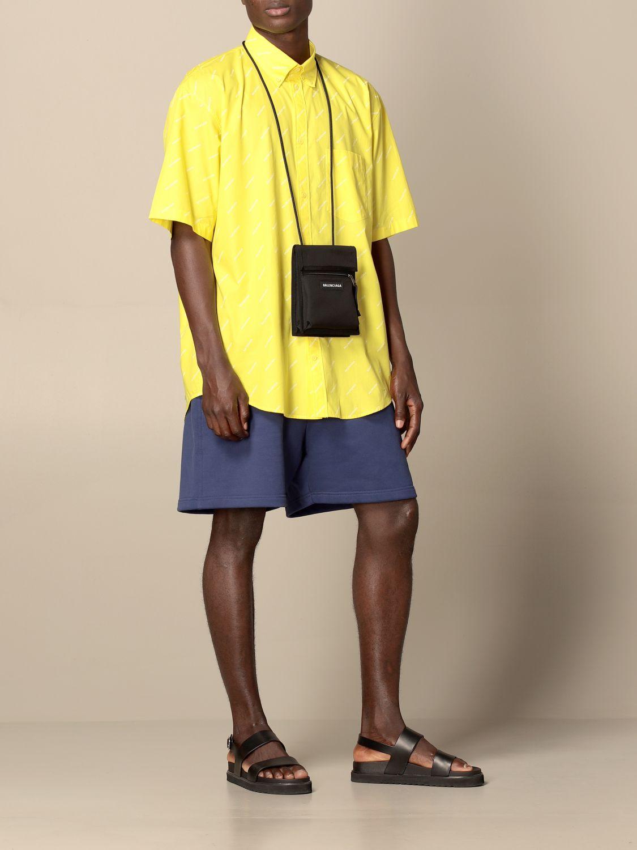 Portadocumenti Balenciaga: Portadocumenti Balenciaga in nylon con logo nero 2