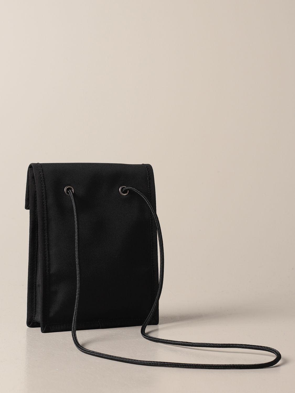 Briefcase Balenciaga: Balenciaga nylon document holder with logo black 3