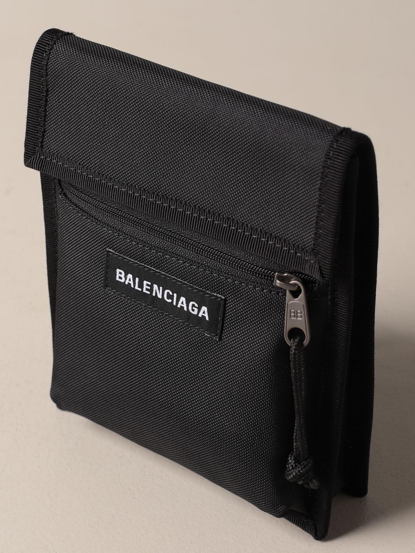 Portadocumenti Balenciaga: Portadocumenti Balenciaga in nylon con logo nero 4
