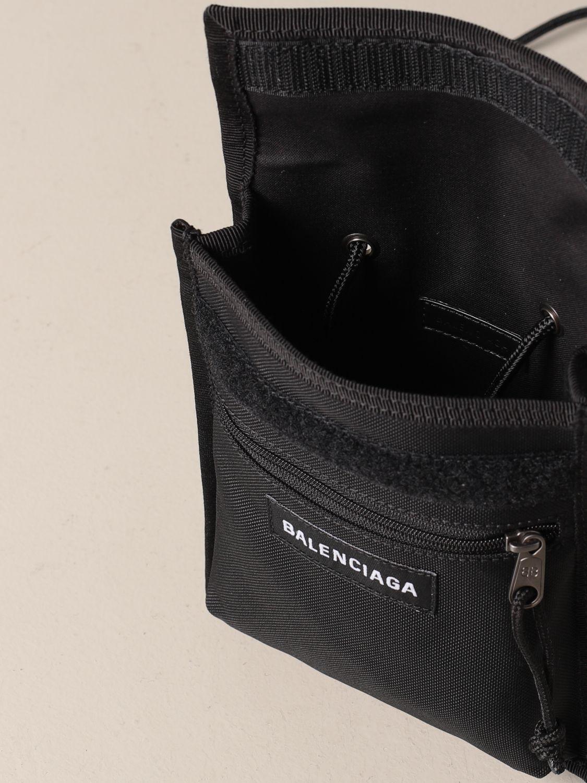 Briefcase Balenciaga: Balenciaga nylon document holder with logo black 5