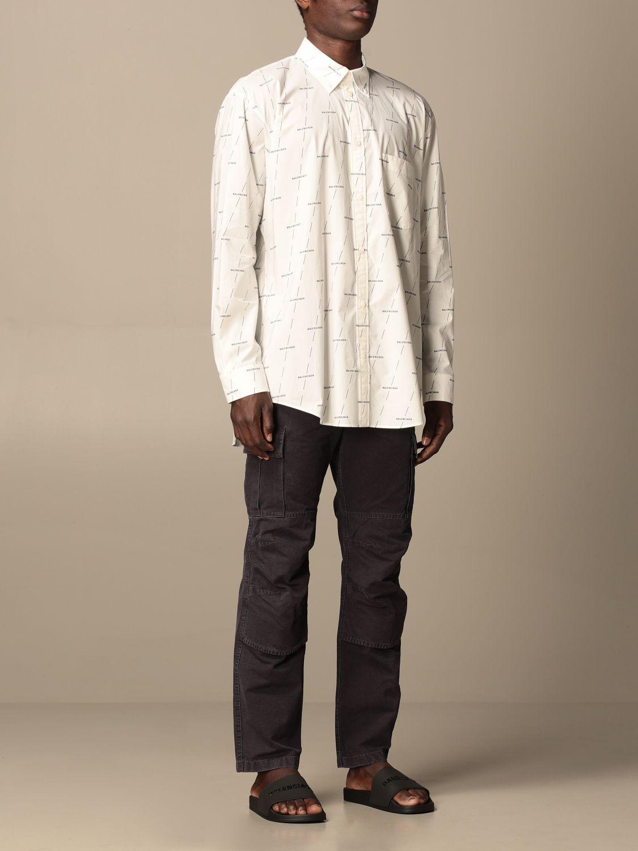 Shirt Balenciaga: Balenciaga shirt with all over logo white 2