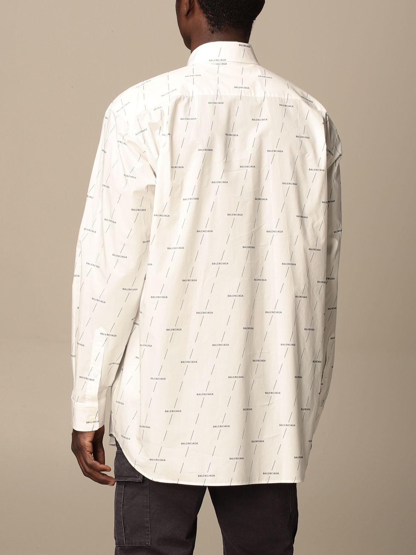 Shirt Balenciaga: Balenciaga shirt with all over logo white 3