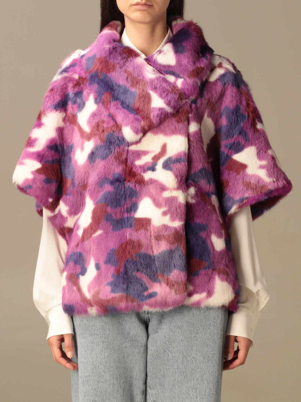 Blazer Beayukmui: Pelliccia di coniglio Beayukmui camouflage viola 1