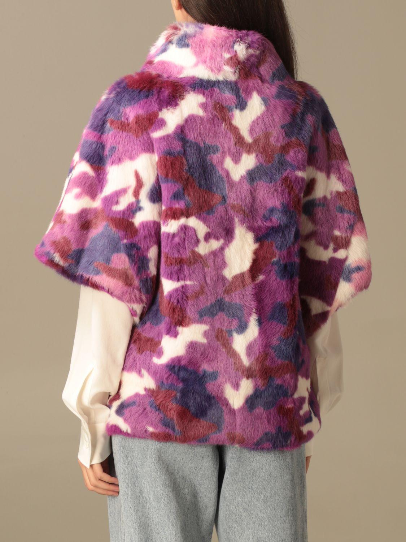 Blazer Beayukmui: Pelliccia di coniglio Beayukmui camouflage viola 3