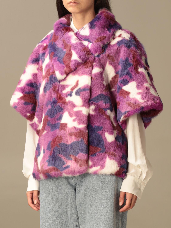 Blazer Beayukmui: Pelliccia di coniglio Beayukmui camouflage viola 4