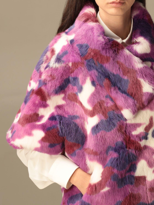 Blazer Beayukmui: Pelliccia di coniglio Beayukmui camouflage viola 5