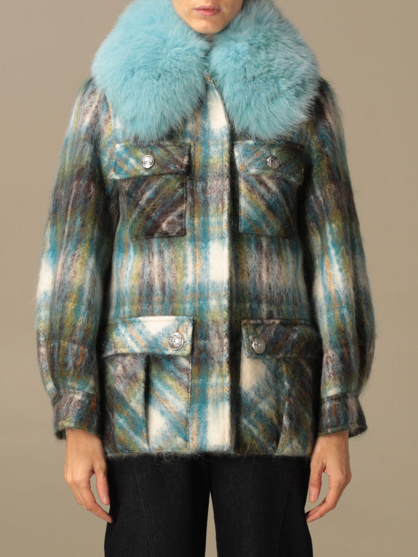 Abrigos de piel real Giada Benincasa: Abrigos de piel real mujer Giada Benincasa azul oscuro 1