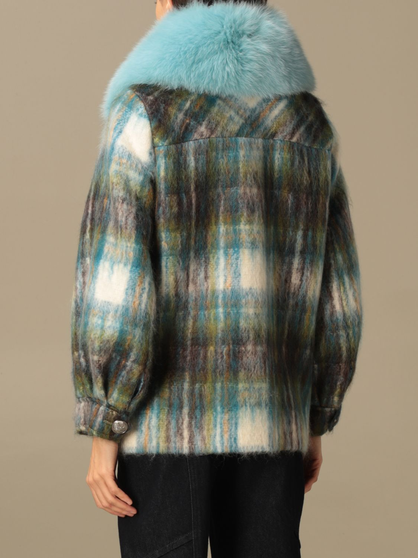 Abrigos de piel real Giada Benincasa: Abrigos de piel real mujer Giada Benincasa azul oscuro 3
