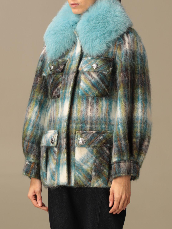 Abrigos de piel real Giada Benincasa: Abrigos de piel real mujer Giada Benincasa azul oscuro 4