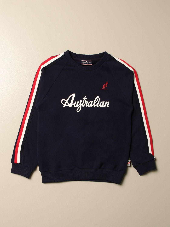 Sweater Australian: Australian crewneck sweatshirt with logo red 1