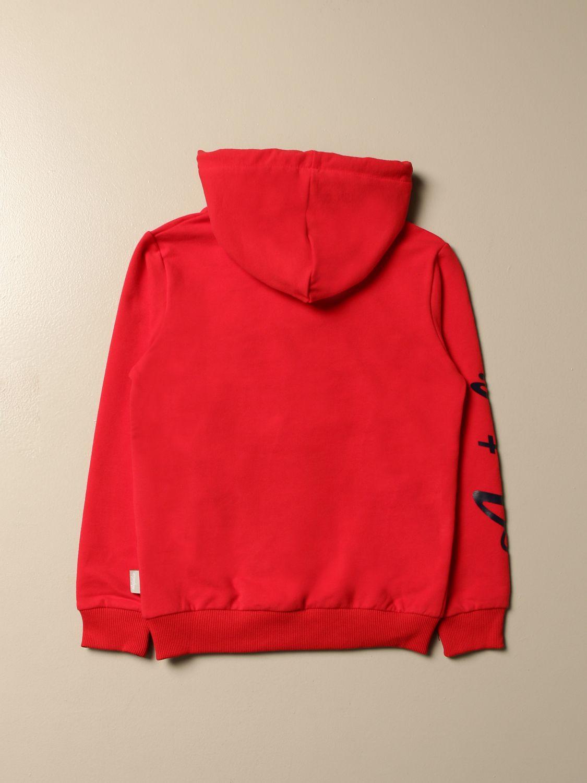 Sweater Australian: Australian sweatshirt with hood and logo red 2