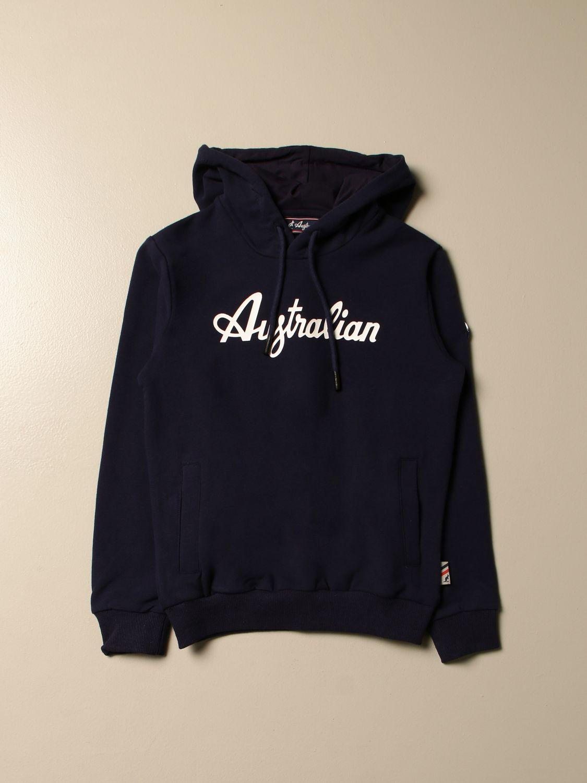 Sweater Australian: Australian hooded sweatshirt with logo blue 1