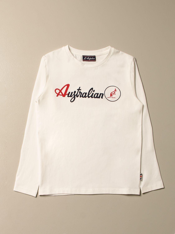 T-shirt Australian: T-shirt enfant Australian blanc 1