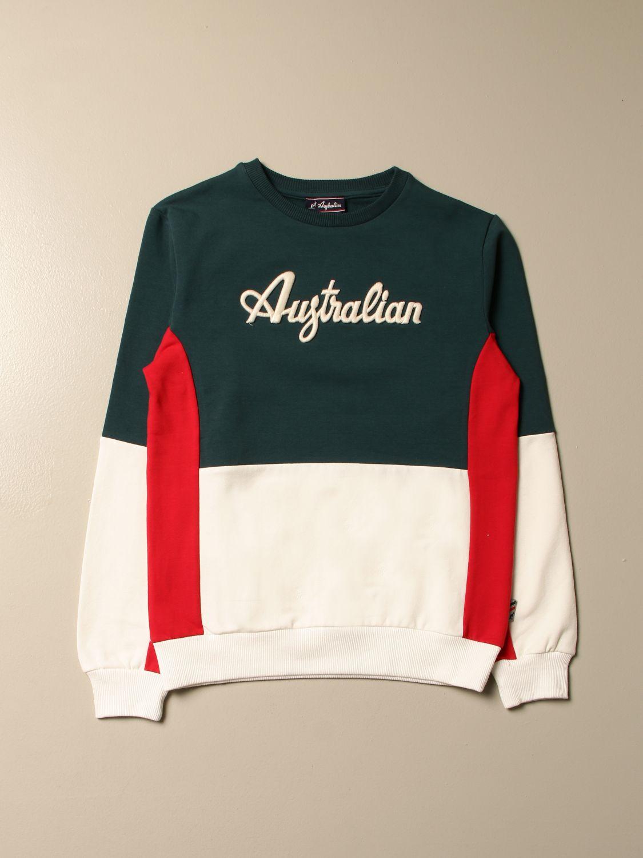 Sweater Australian: Australian bicolor crewneck sweatshirt military 1