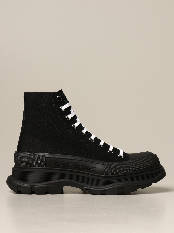 Sneakers Alexander Mcqueen: Sneakers Alexander McQueen in tela di cotone nero 1