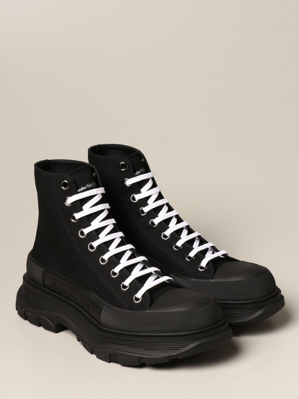 Sneakers Alexander Mcqueen: Sneakers Alexander McQueen in tela di cotone nero 2