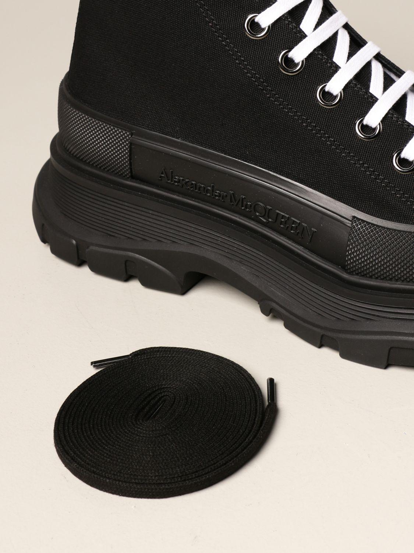 Sneakers Alexander Mcqueen: Sneakers Alexander McQueen in tela di cotone nero 4