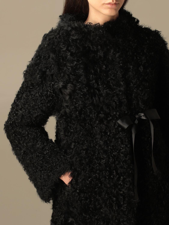 Pelliccia Boutique Moschino: Pelliccia di pecora Boutique Moschino nero 5
