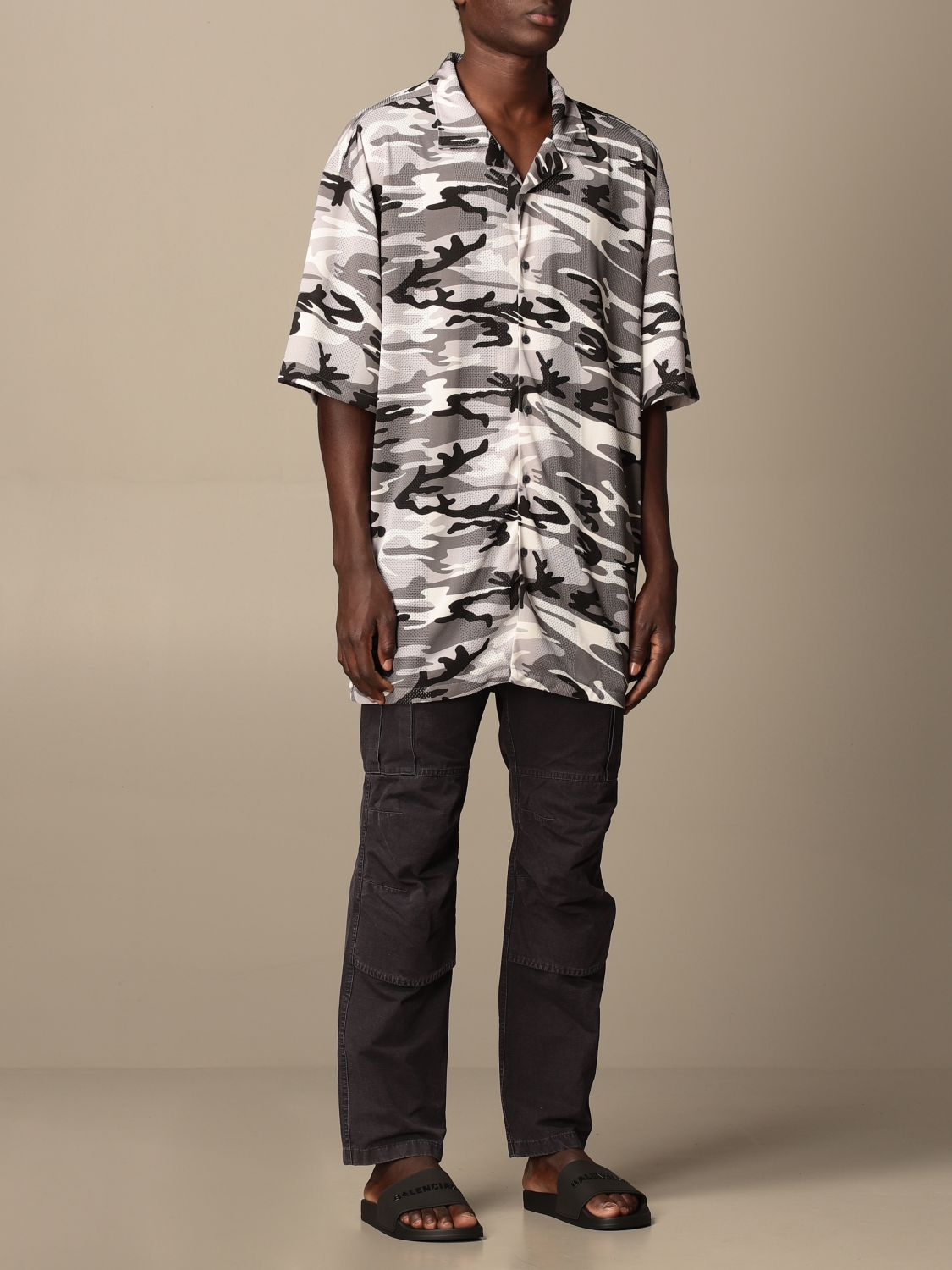 Shirt Balenciaga: Over Balenciaga shirt with camouflage pattern grey 2