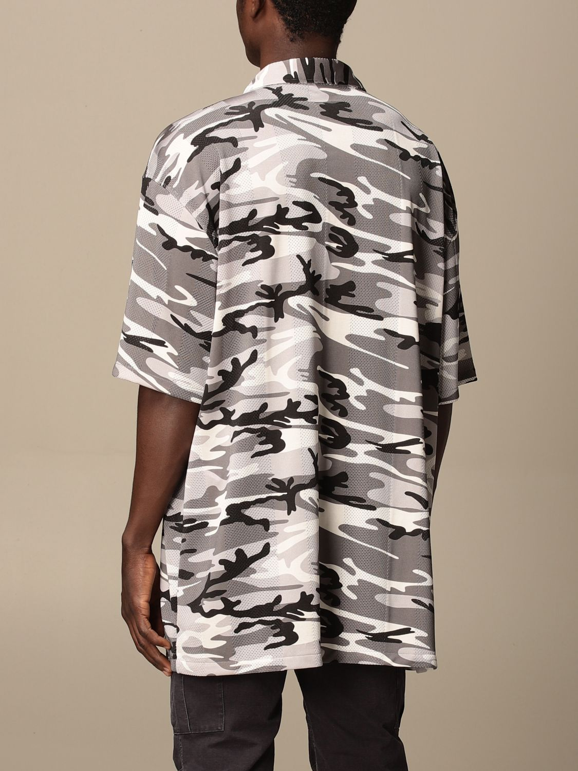Shirt Balenciaga: Over Balenciaga shirt with camouflage pattern grey 3