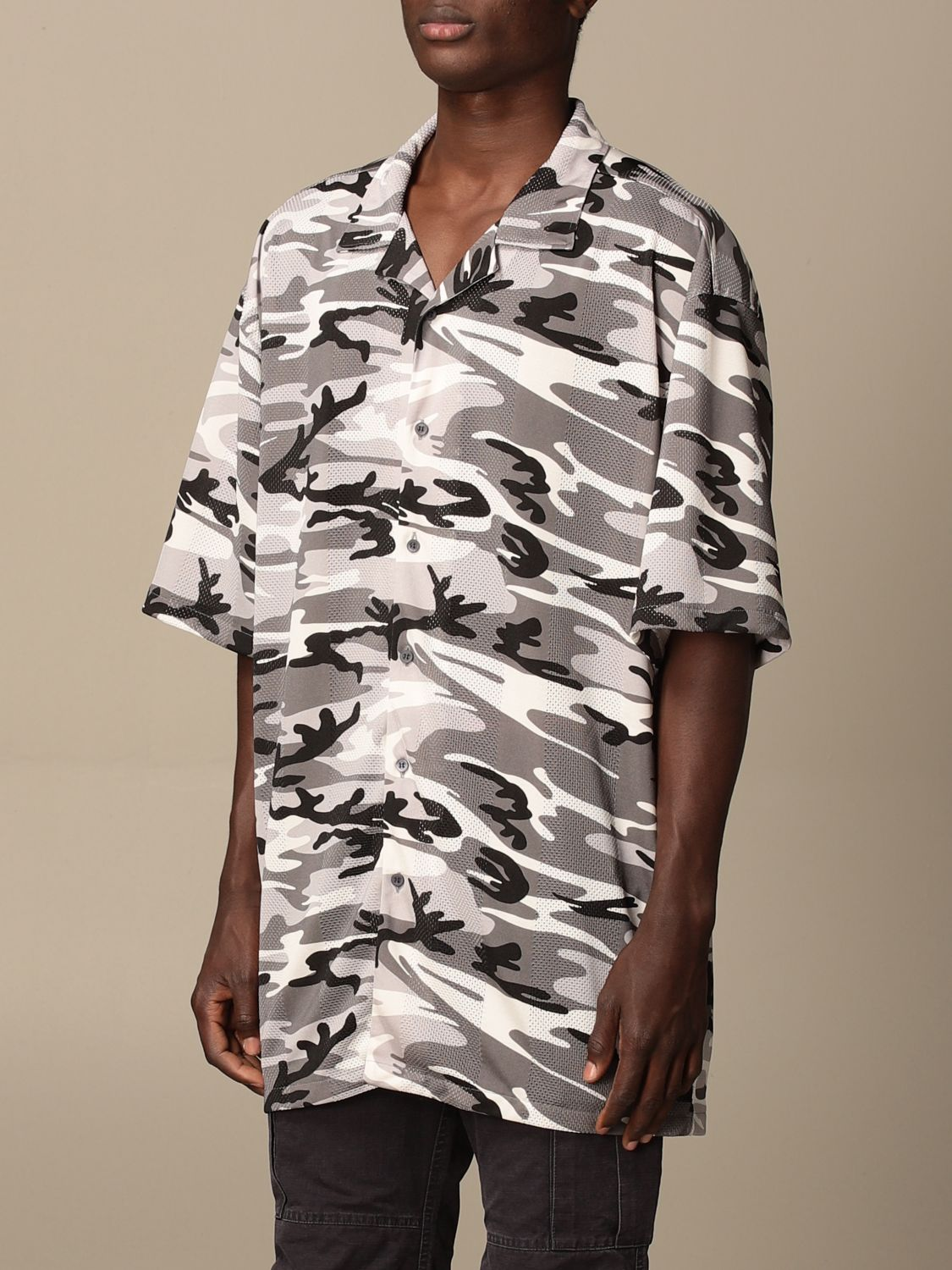 Shirt Balenciaga: Over Balenciaga shirt with camouflage pattern grey 4