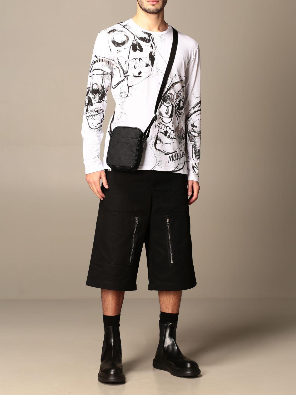 Shoulder bag Alexander Mcqueen: Alexander McQueen bag in fabric with skulls black 2