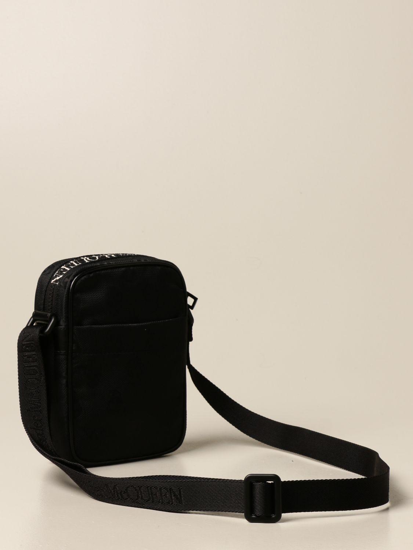 Shoulder bag Alexander Mcqueen: Alexander McQueen bag in fabric with skulls black 3