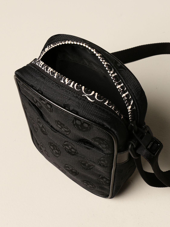 Shoulder bag Alexander Mcqueen: Alexander McQueen bag in fabric with skulls black 5