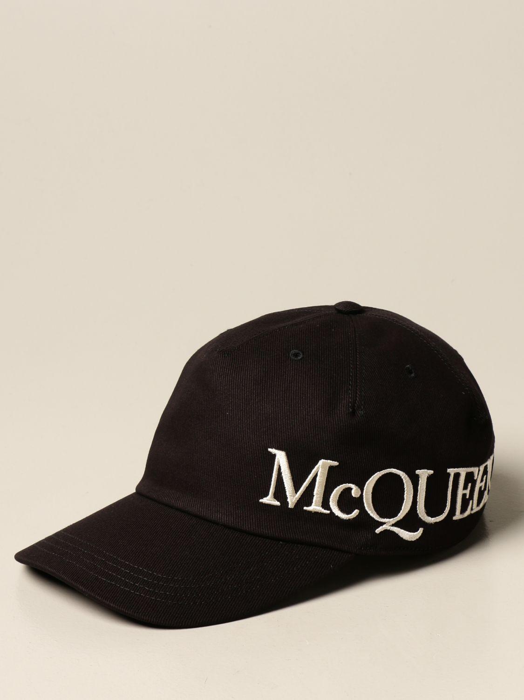 Hat Alexander Mcqueen: Alexander McQueen baseball cap with logo black 1