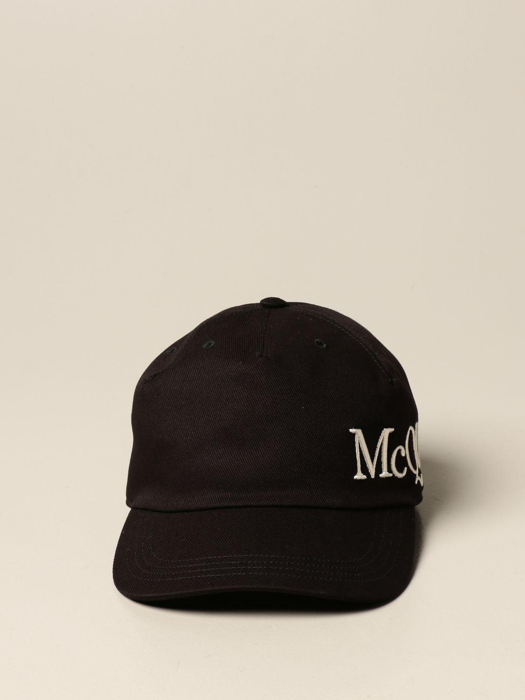 Hat Alexander Mcqueen: Alexander McQueen baseball cap with logo black 2
