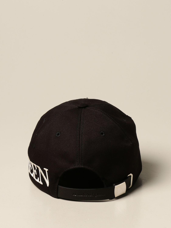 Hat Alexander Mcqueen: Alexander McQueen baseball cap with logo black 3