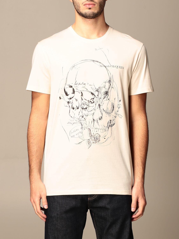 T-shirt Alexander Mcqueen: T-shirt men Alexander Mcqueen cream 1