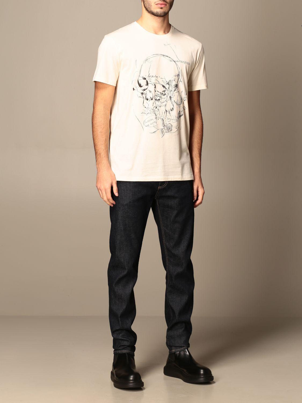 T-shirt Alexander Mcqueen: T-shirt men Alexander Mcqueen cream 2