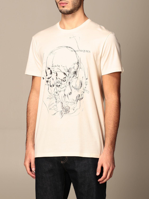 T-shirt Alexander Mcqueen: T-shirt men Alexander Mcqueen cream 4