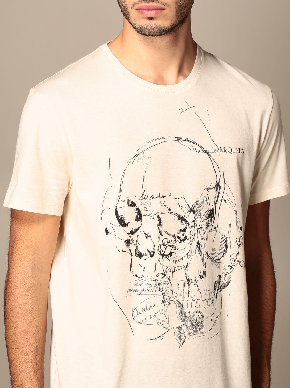 T-shirt Alexander Mcqueen: T-shirt men Alexander Mcqueen cream 5