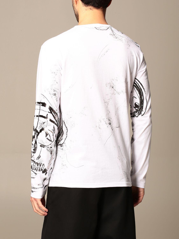 T-shirt Alexander Mcqueen: Alexander McQueen t-shirt in cotton with skull print white 3