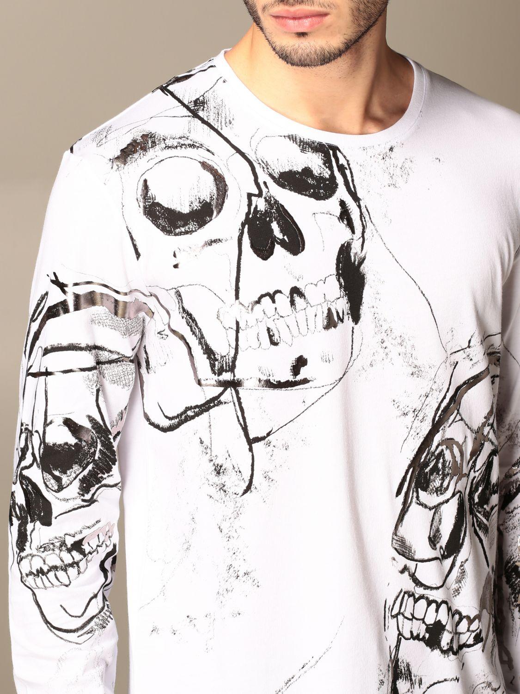 T-shirt Alexander Mcqueen: Alexander McQueen t-shirt in cotton with skull print white 5