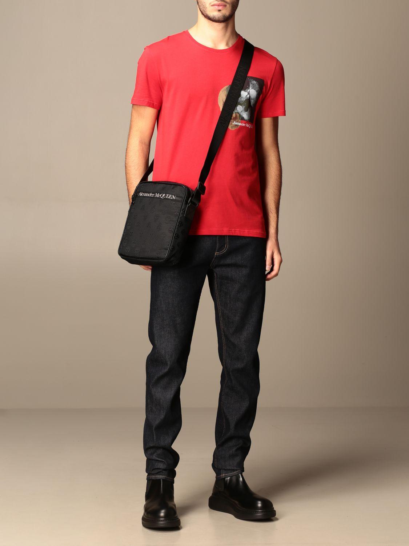 T-shirt Alexander Mcqueen: T-shirt Alexander McQueen in cotone con stampa verde 2