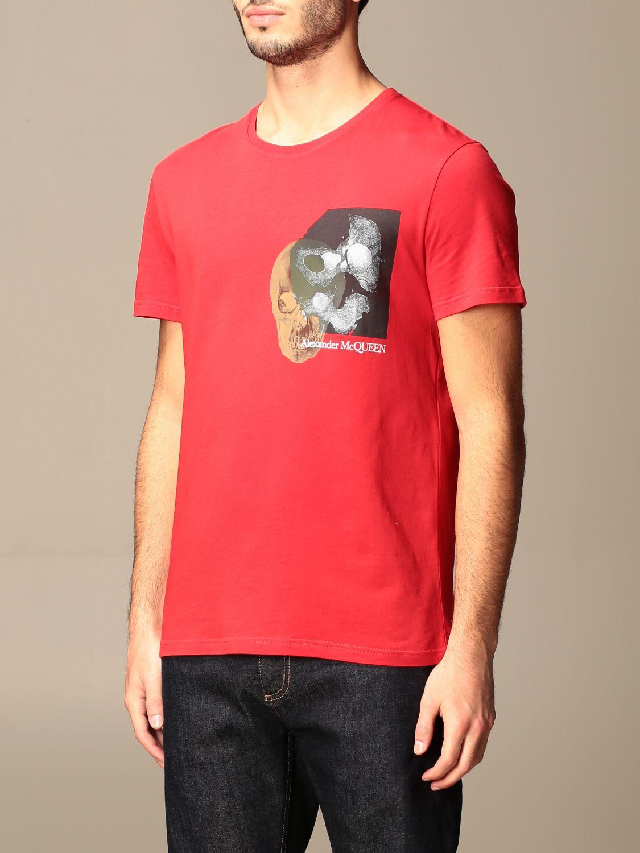 T-shirt Alexander Mcqueen: T-shirt Alexander McQueen in cotone con stampa verde 4