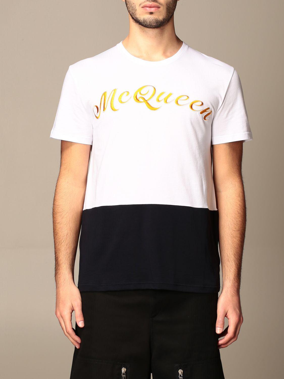 T-shirt Alexander Mcqueen: T-shirt homme Alexander Mcqueen blanc 1