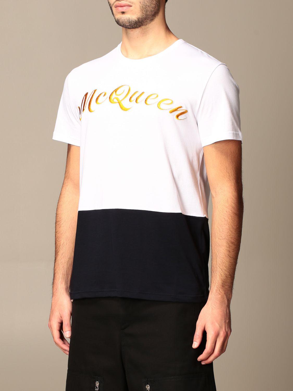 T-shirt Alexander Mcqueen: T-shirt homme Alexander Mcqueen blanc 4