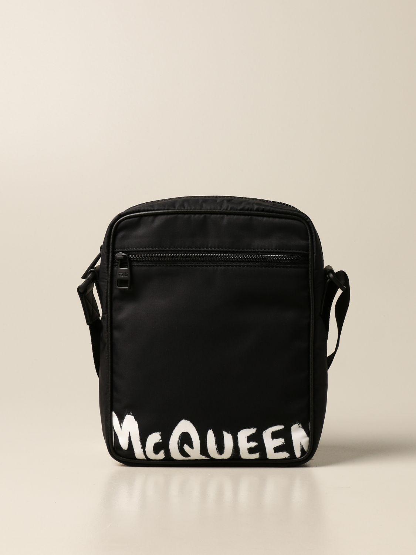 Borsa a tracolla Alexander Mcqueen: Borsello Alexander McQueen in nylon nero 1
