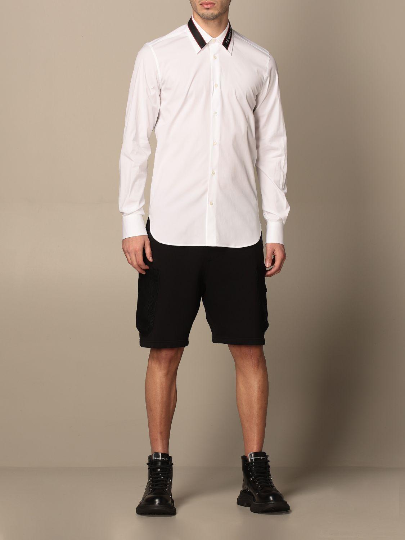 Camicia Alexander Mcqueen: Camicia Alexander McQueen con logo bianco 2
