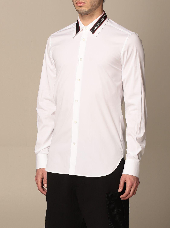 Camicia Alexander Mcqueen: Camicia Alexander McQueen con logo bianco 4