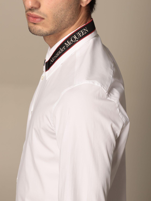 Camicia Alexander Mcqueen: Camicia Alexander McQueen con logo bianco 5
