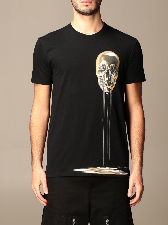 T-shirt Alexander Mcqueen: Polo homme Alexander Mcqueen noir 1