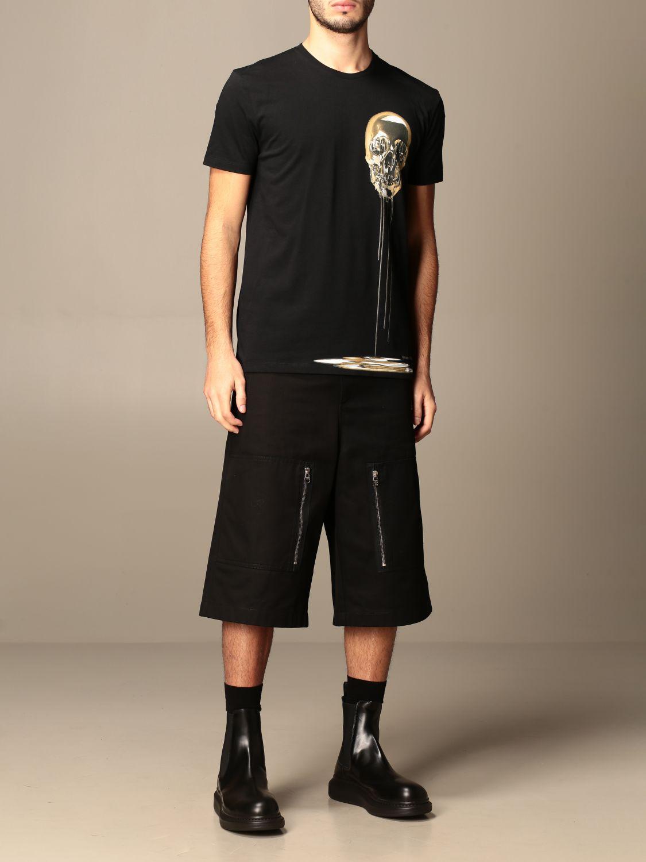 T-shirt Alexander Mcqueen: Polo homme Alexander Mcqueen noir 2