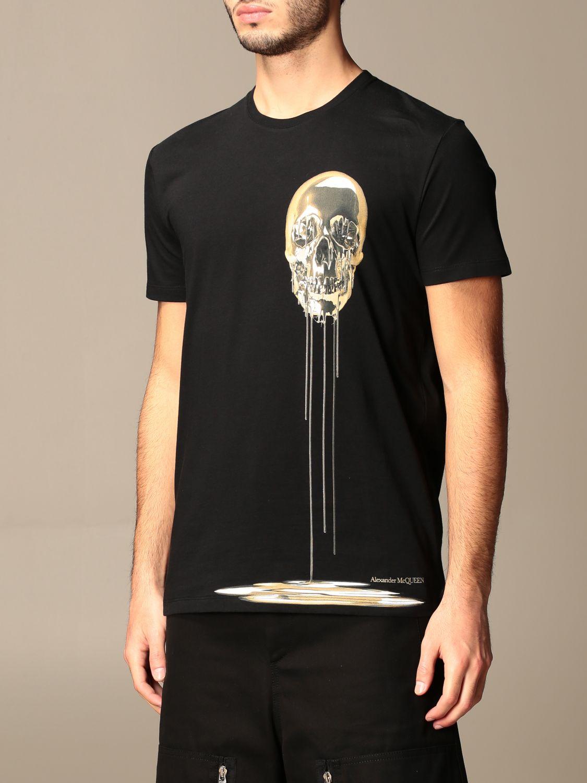 T-shirt Alexander Mcqueen: Polo homme Alexander Mcqueen noir 4