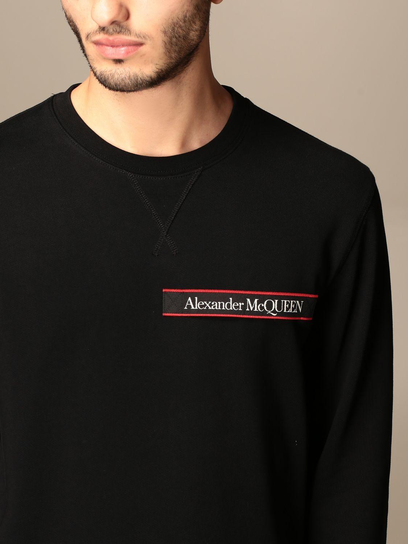 Felpa Alexander Mcqueen: Felpa a girocollo Alexander McQueen con logo nero 5